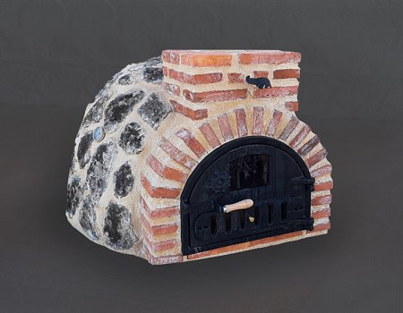 Horno montado en piedra de musgo (granito).