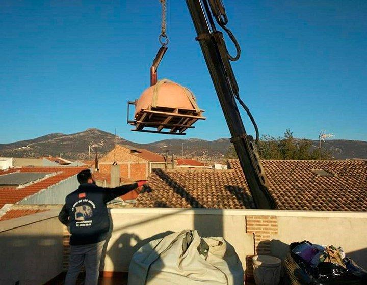 Montaje de horno en ladrillo curvo de Pereruela (Ciudad Real) - 1