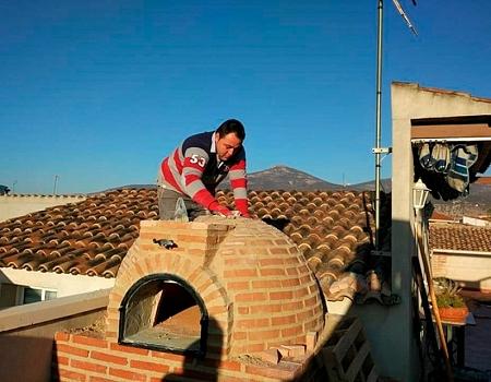 Montaje de horno en ladrillo curvo de Pereruela (Ciudad Real)