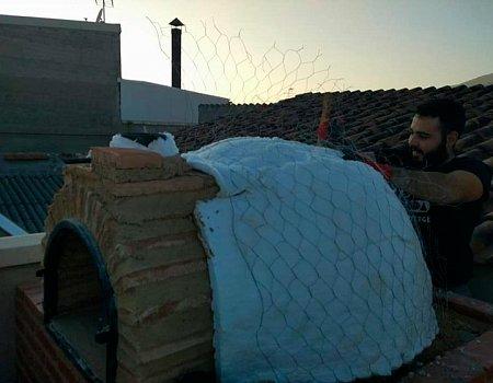 Montaje de horno en ladrillo curvo de Pereruela (Ciudad Real)-2